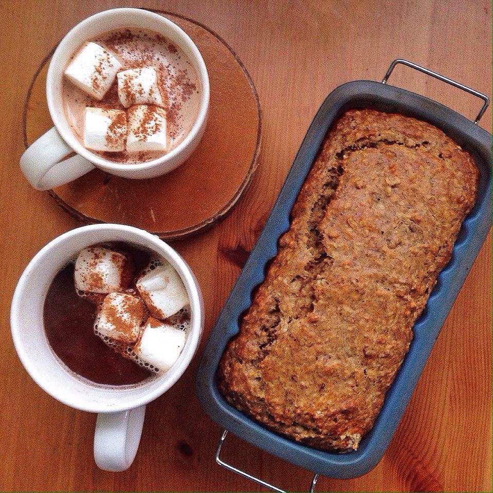 Банановый кекс какао с маршмелоу | Блог давай замедлимся