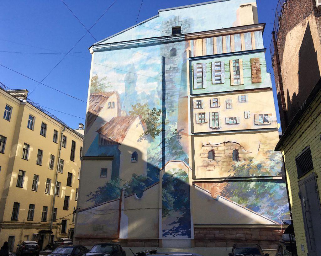 Граффити на Гороховой улице 36