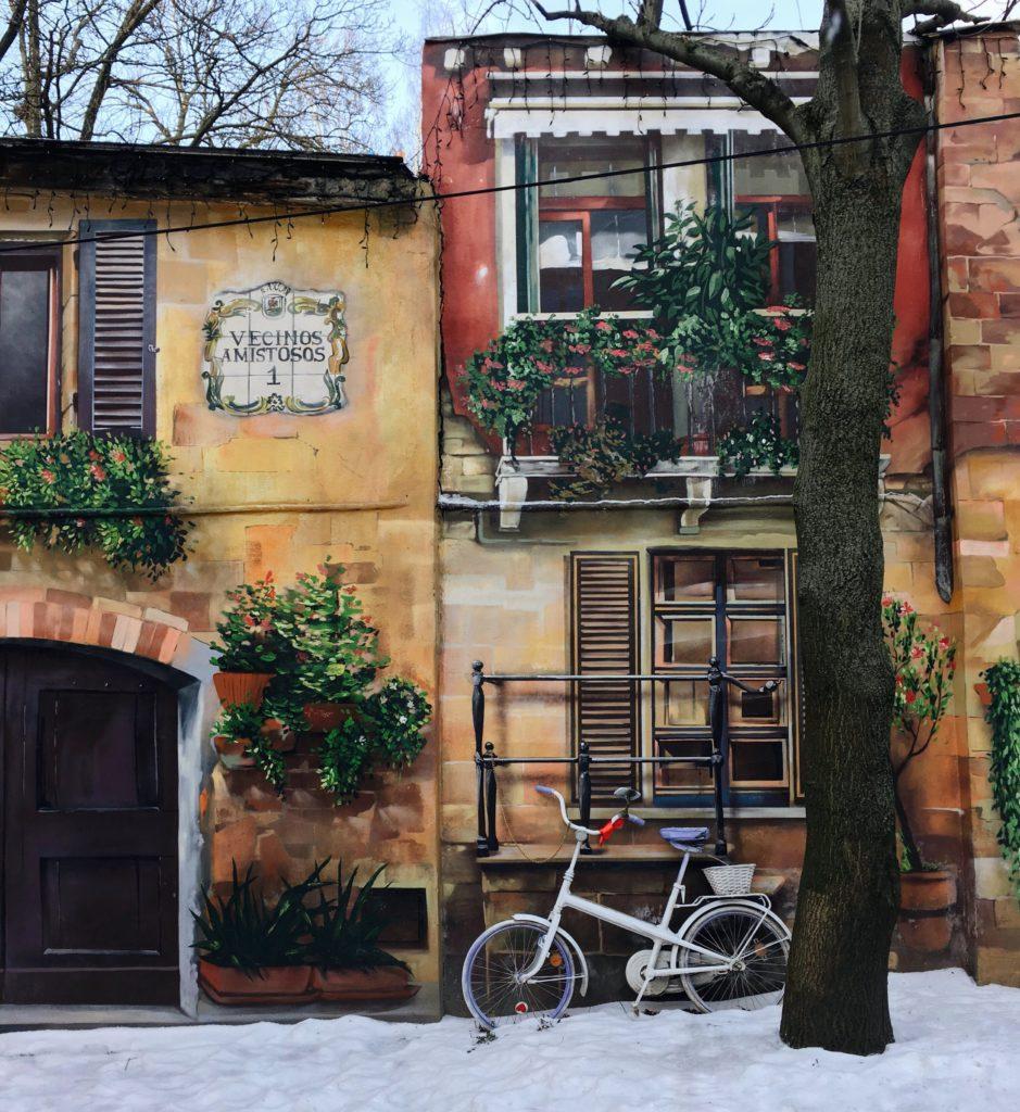 Дружные соседи на Фурштатской улице граффити